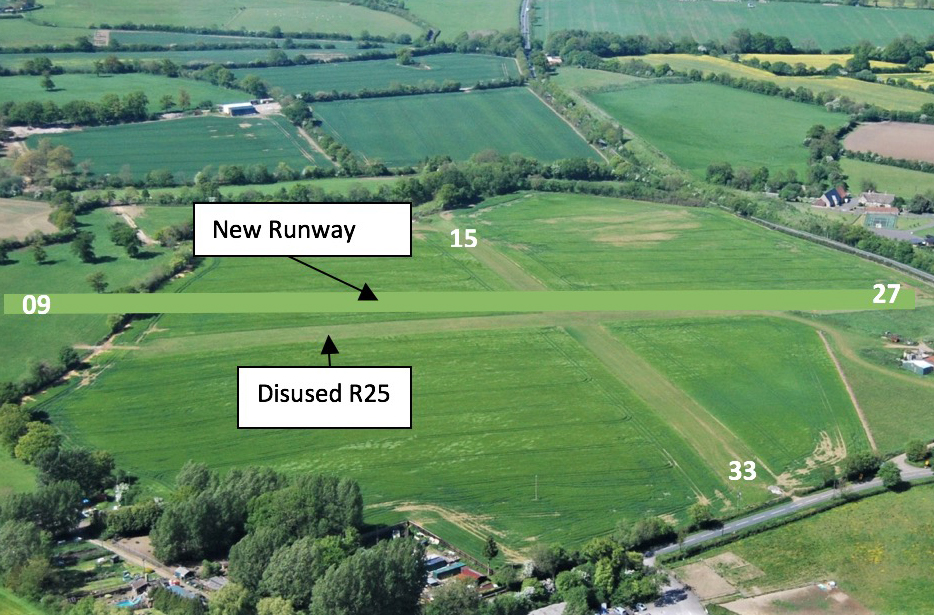 Aerial view of Brown Shutters Farm Airfield